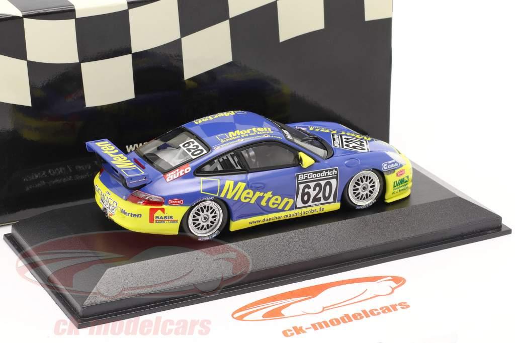 Porsche 911 GT3 #620 Dt. Udholdenhedsmesterskab `04 Hulverscheid, Jacobs 1:43 Minichamps