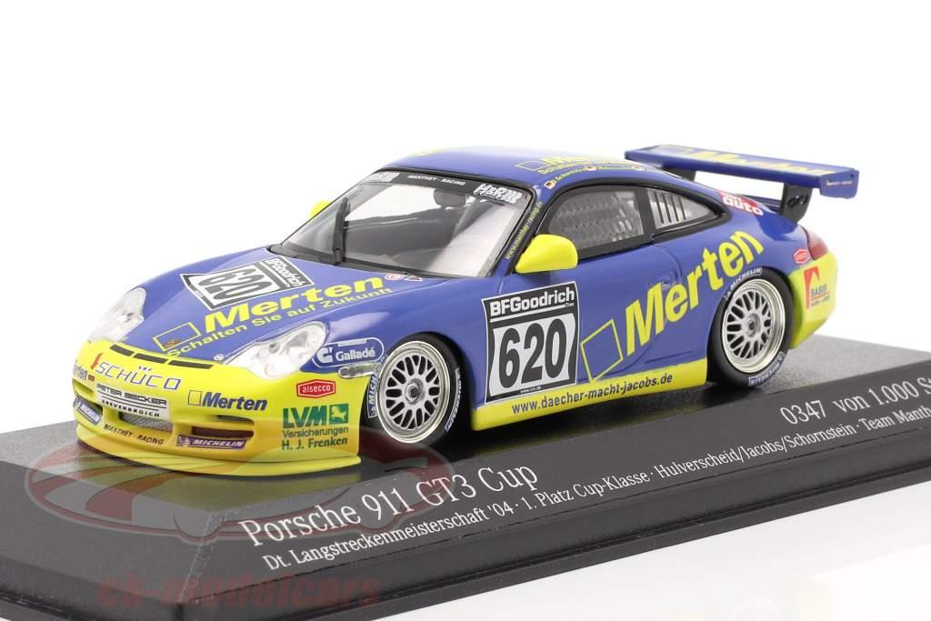 Porsche 911 GT3 #620 Dt. Campeonato de resistencia `04 Hulverscheid, Jacobs 1:43 Minichamps