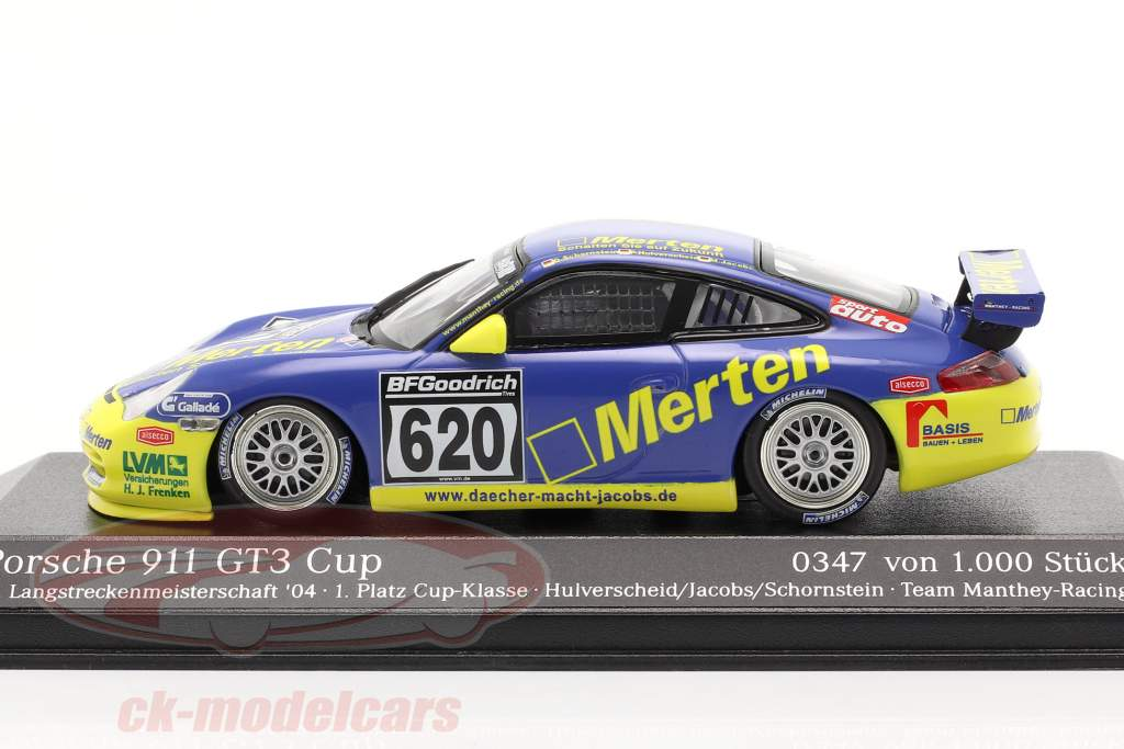 Porsche 911 GT3 #620 Dt. Endurance championship `04 Hulverscheid, Jacobs 1:43 Minichamps