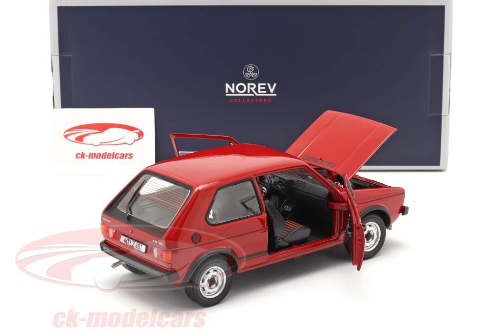 Volkswagen VW Golf I GTI Byggeår 1976 rød 1:18 Norev