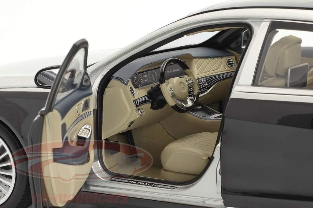 Mercedes-Benz Maybach S-Klasse S650 Byggeår 2018 sort / sølv 1:18 Norev
