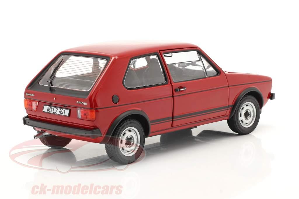 Volkswagen VW Golf I GTI Anno di costruzione 1976 rosso 1:18 Norev