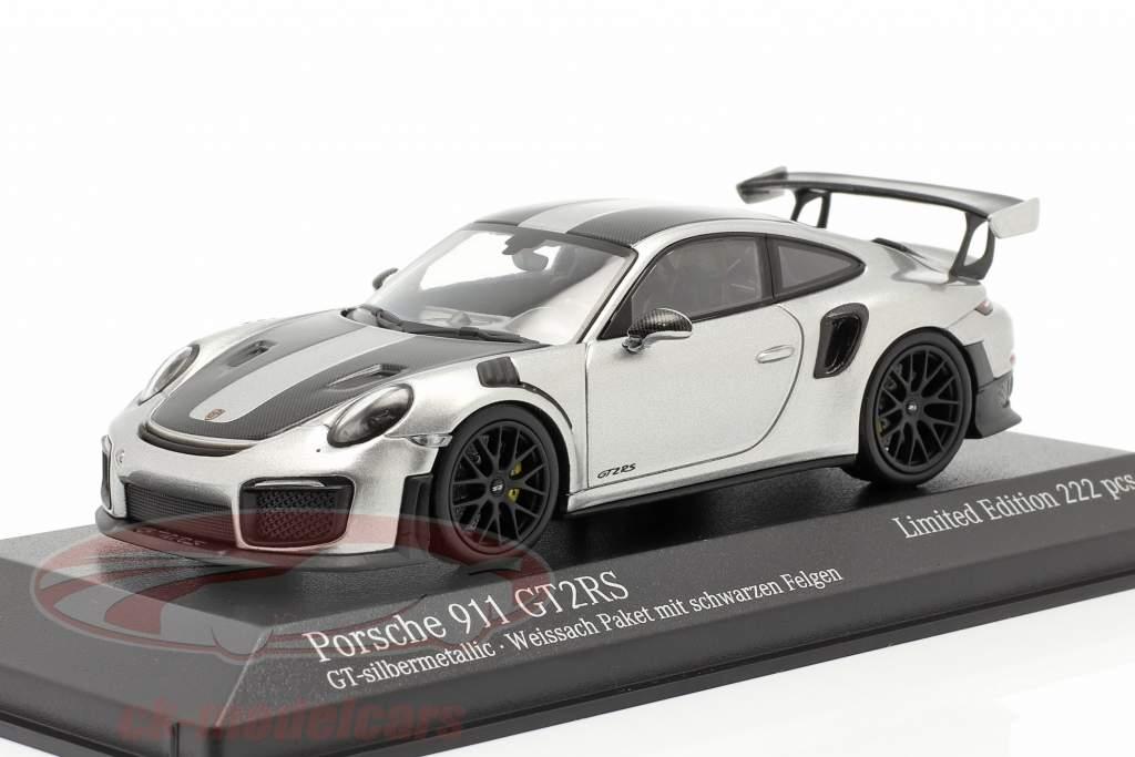 Porsche 911 (991 II) GT2 RS Weissach Package 2018 Argento GT 1:43 Minichamps