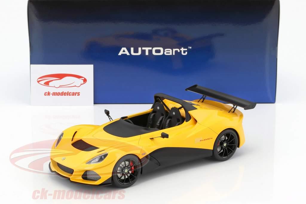 Lotus 3-Eleven ano de construção 2017 amarelo 1:18 AUTOart