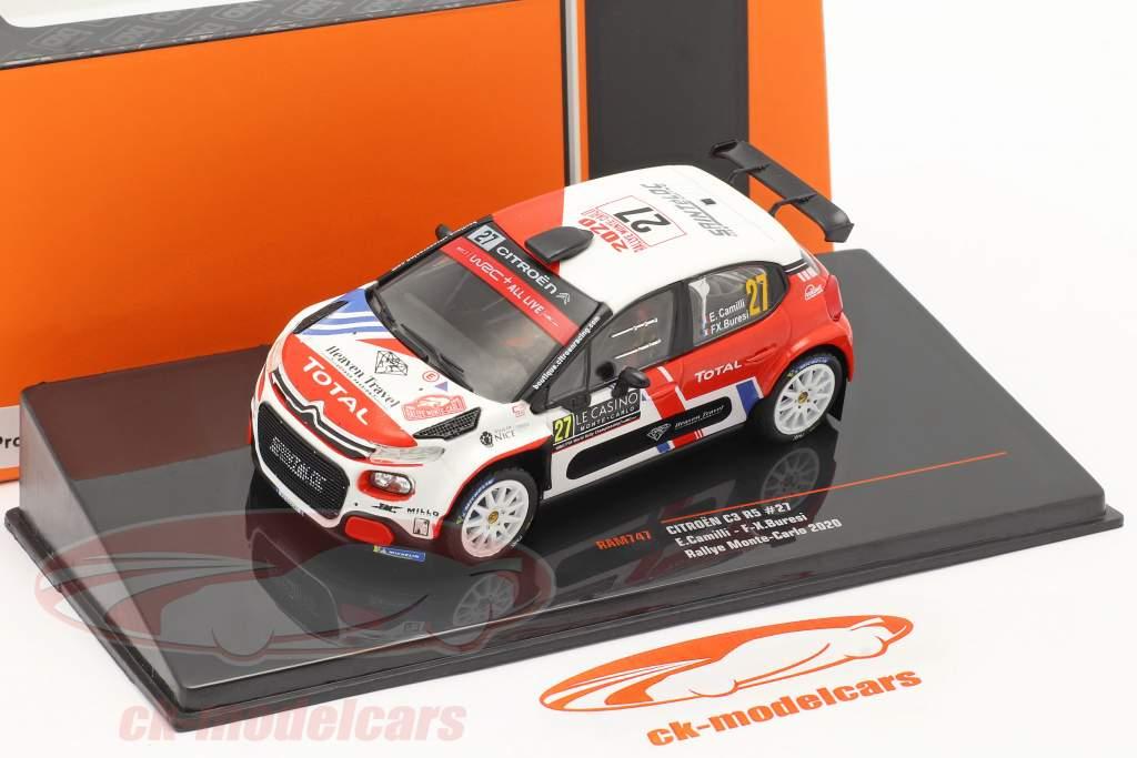 Citroen C3 R5 #27 Rally Monte Carlo 2020 Camilli, Buresi 1:43 Ixo