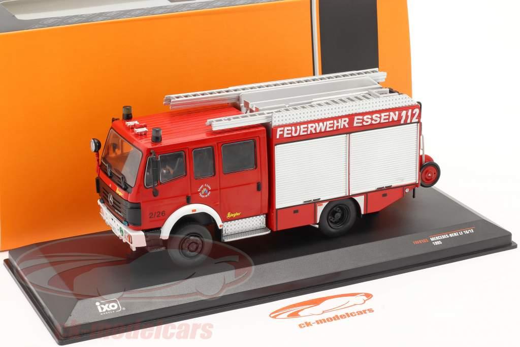 Mercedes-Benz LF 16/12 Brandweer Essen Bouwjaar 1995 rood 1:43 Ixo