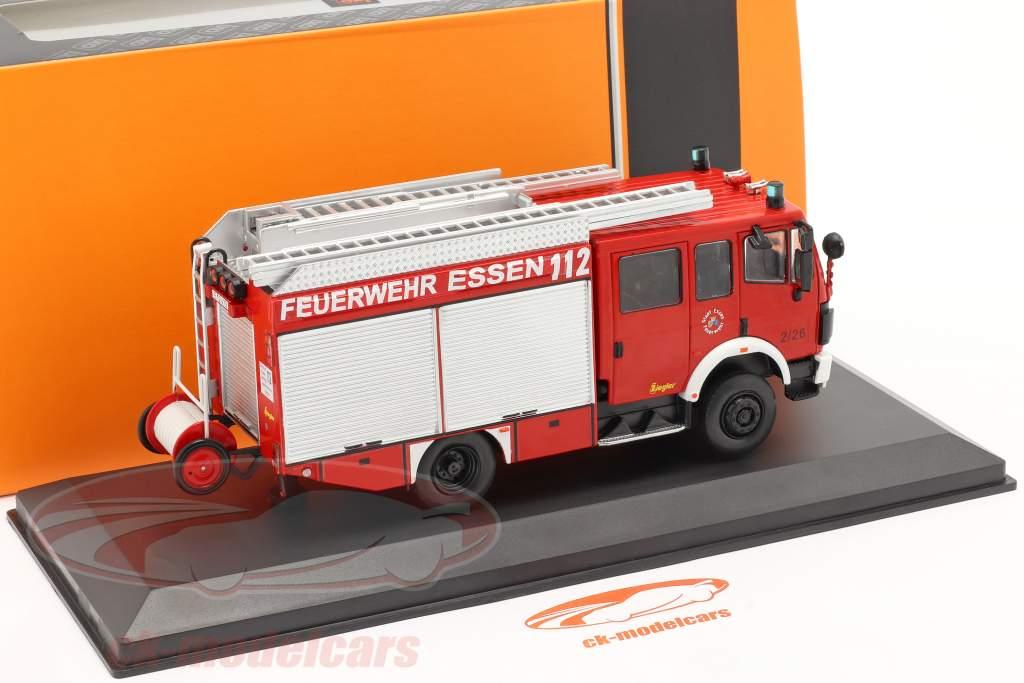 Mercedes-Benz LF 16/12 cuerpo de Bomberos Essen Año de construcción 1995 rojo 1:43 Ixo