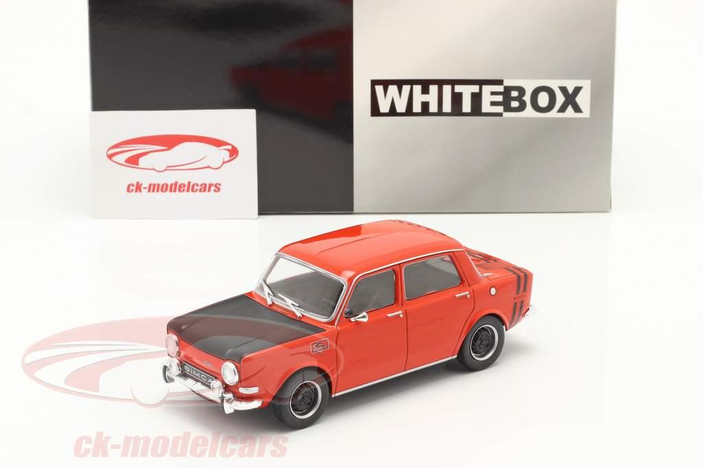 Simca 1000 Rallye 2 Ano de construção 1970 vermelho / Preto 1:24 WhiteBox