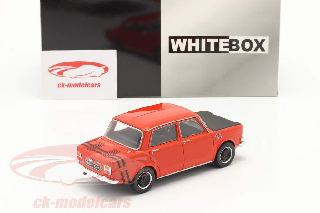 Simca 1000 Rallye 2 Bouwjaar 1970 rood / zwart 1:24 WhiteBox