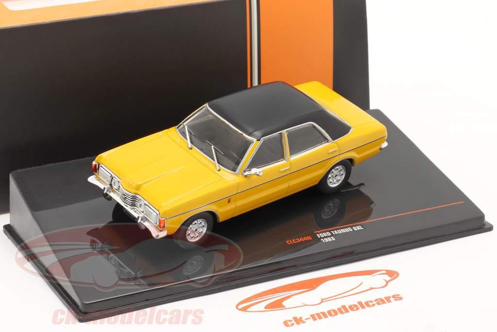 Ford Taunus GXL Año de construcción 1983 amarillo / negro 1:43 Ixo