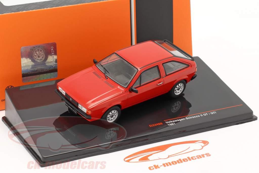 Volkswagen VW Scirocco II GT / GTI Bouwjaar 1981 rood 1:43 Ixo