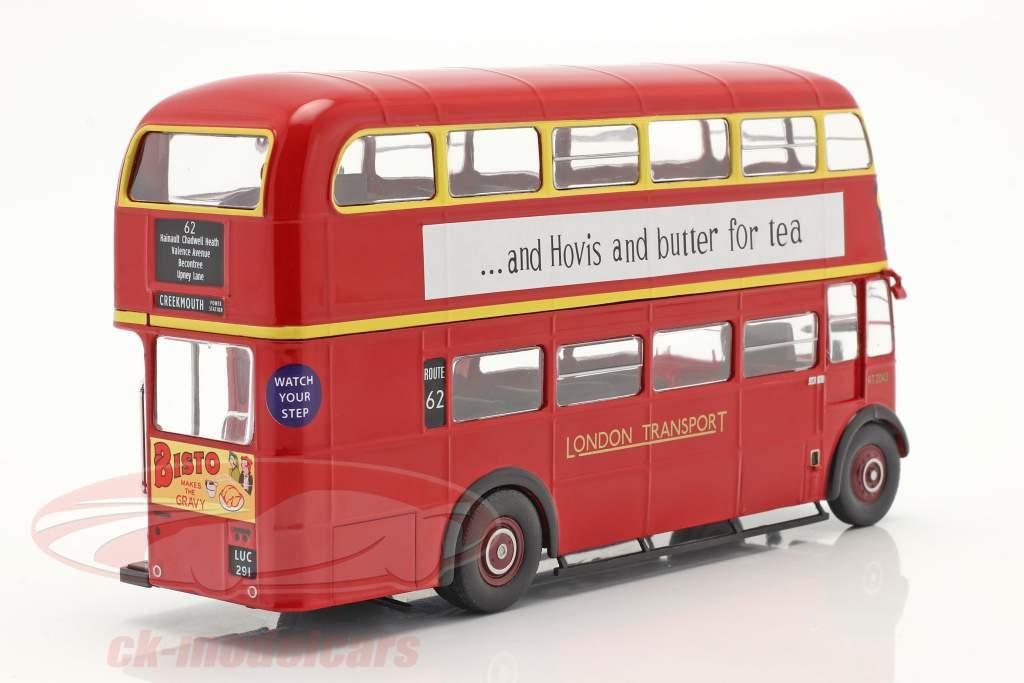 AEC Regent III RT RHD London Transport Bus Anno di costruzione 1939 rosso 1:43 Ixo