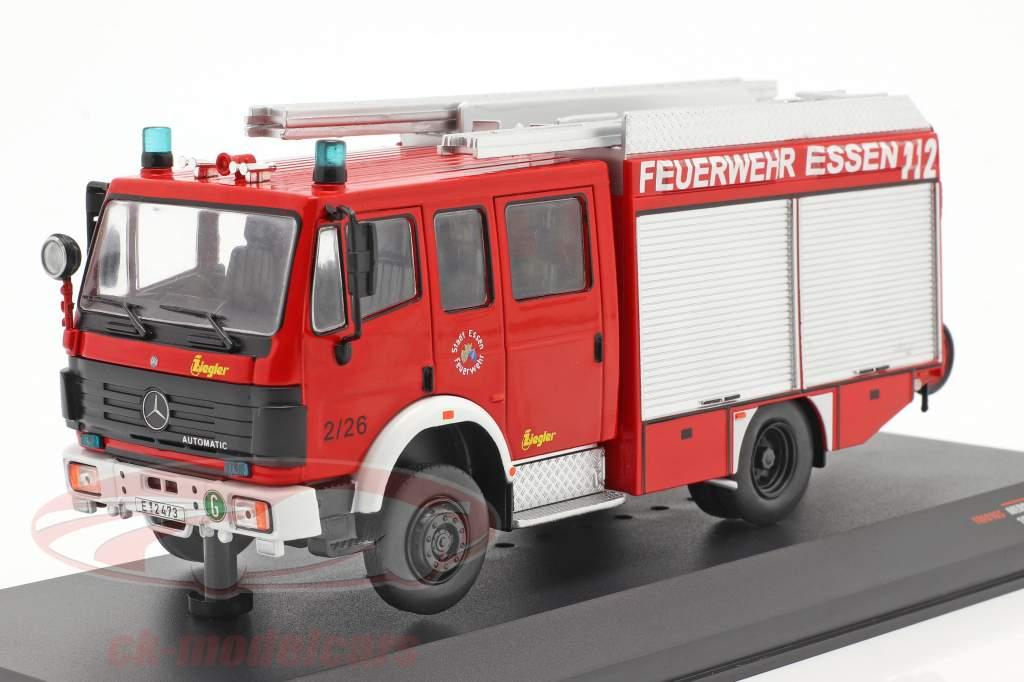 Mercedes-Benz LF 16/12 vigili del fuoco Essen Anno di costruzione 1995 rosso 1:43 Ixo