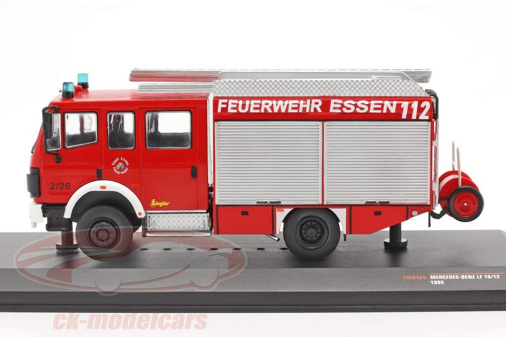 Mercedes-Benz LF 16/12 Brandvæsen Essen Byggeår 1995 rød 1:43 Ixo