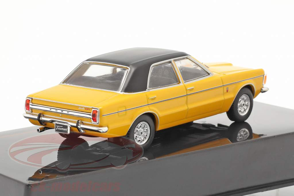 Ford Taunus GXL Bouwjaar 1983 geel / zwart 1:43 Ixo