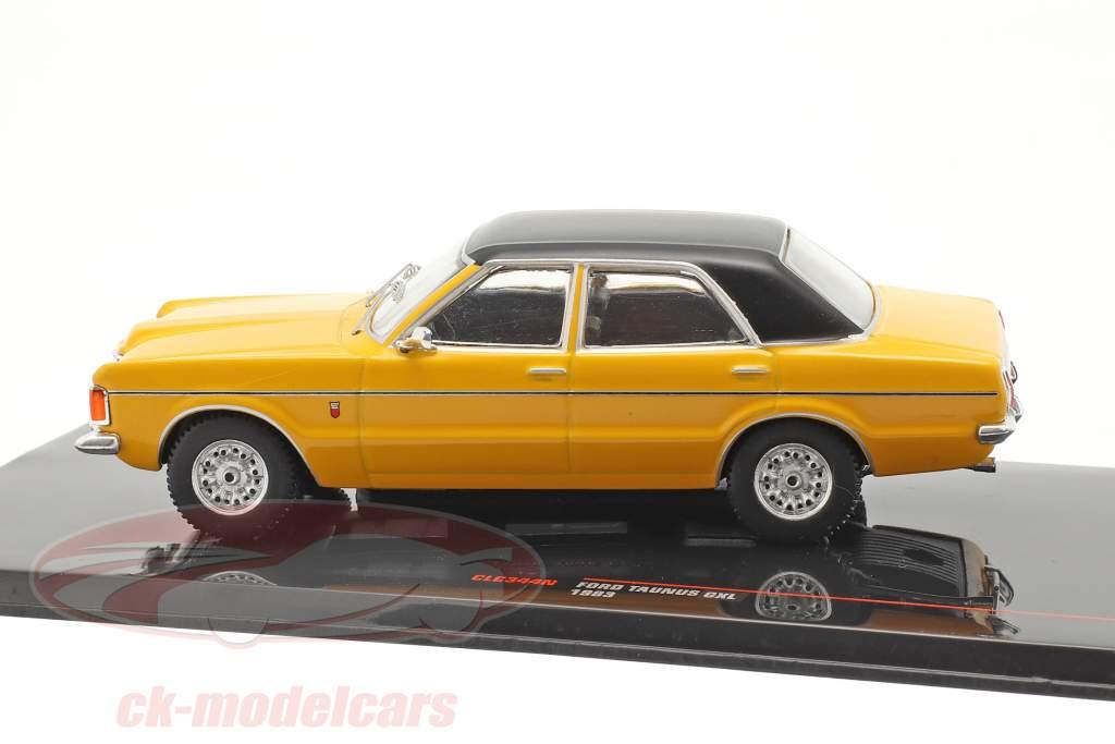 Ford Taunus GXL Année de construction 1983 Jaune / noir 1:43 Ixo