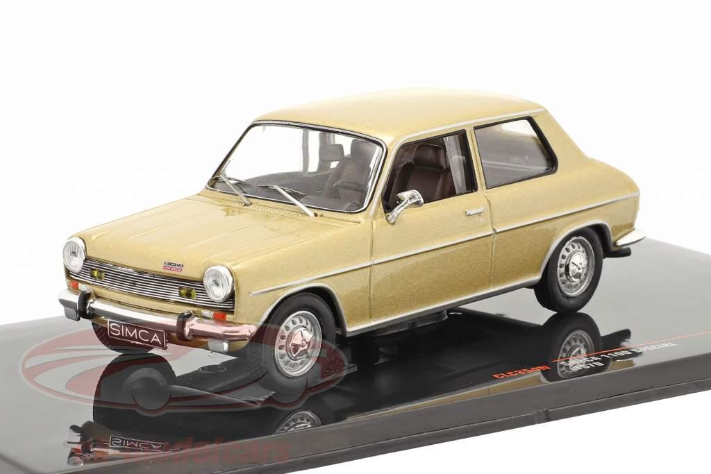 Simca 1100 Special Bouwjaar 1970 goud 1:43 Ixo