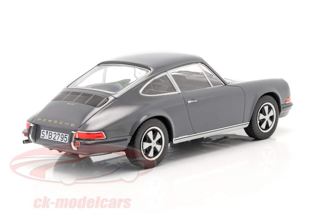 Porsche 911 S Año de construcción 1968 gris 1:24 WhiteBox
