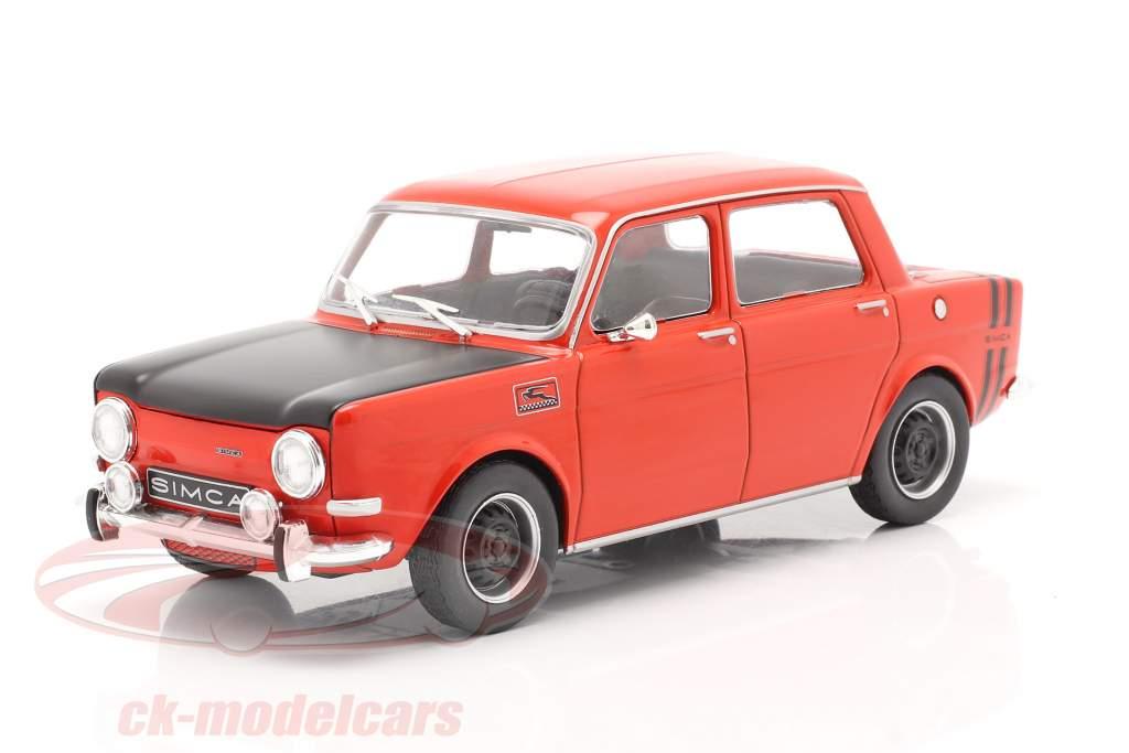 Simca 1000 Rallye 2 Año de construcción 1970 rojo / negro 1:24 WhiteBox