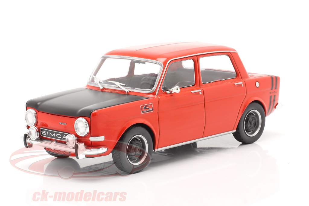 Simca 1000 Rallye 2 Byggeår 1970 rød / sort 1:24 WhiteBox