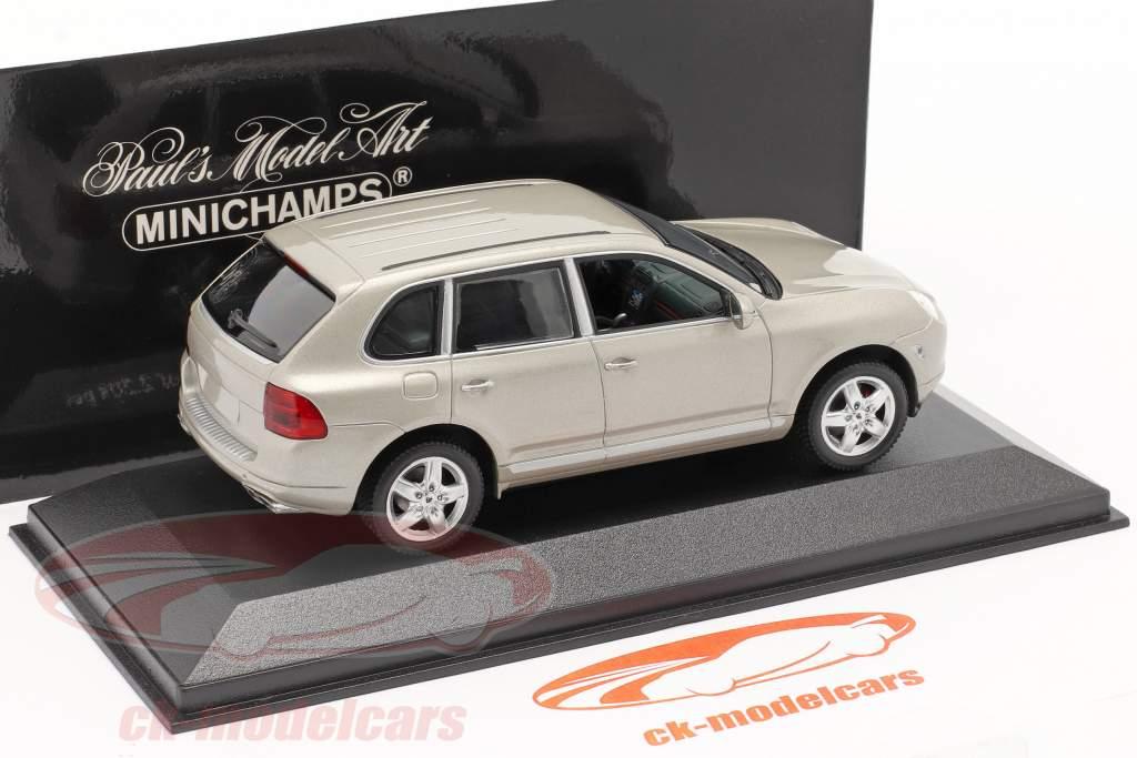 Porsche Cayenne Turbo Year 2002 beige 1:43 Minichamps