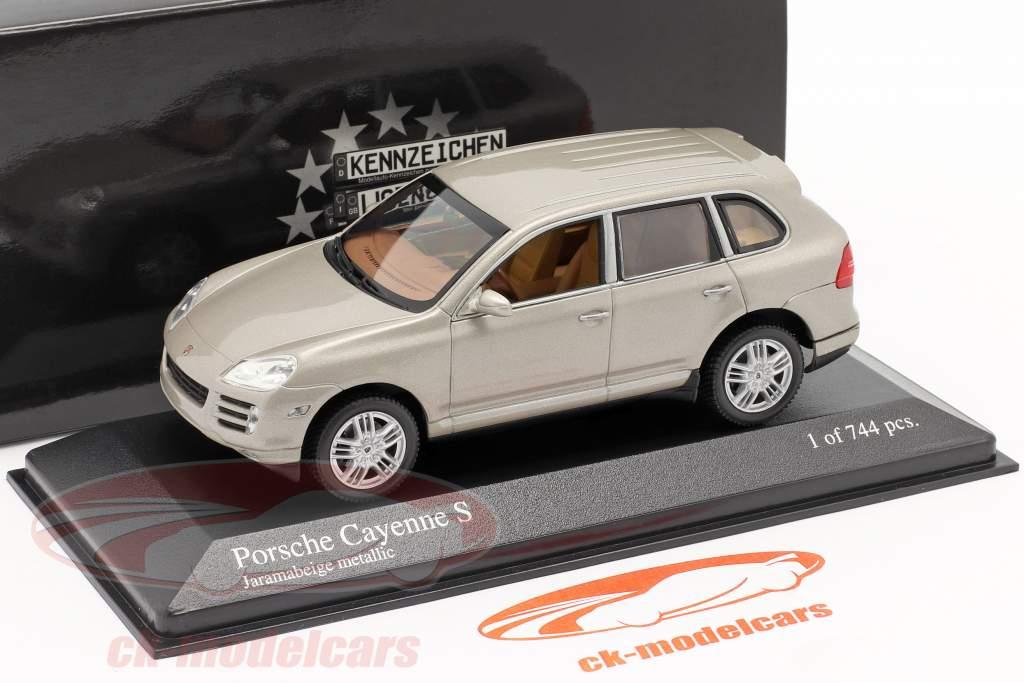 Porsche Cayenne S Año 2007 beige 1:43 Minichamps