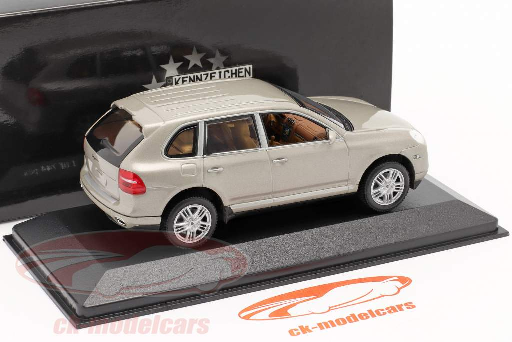 Porsche Cayenne S Anno 2007 beige 1:43 Minichamps