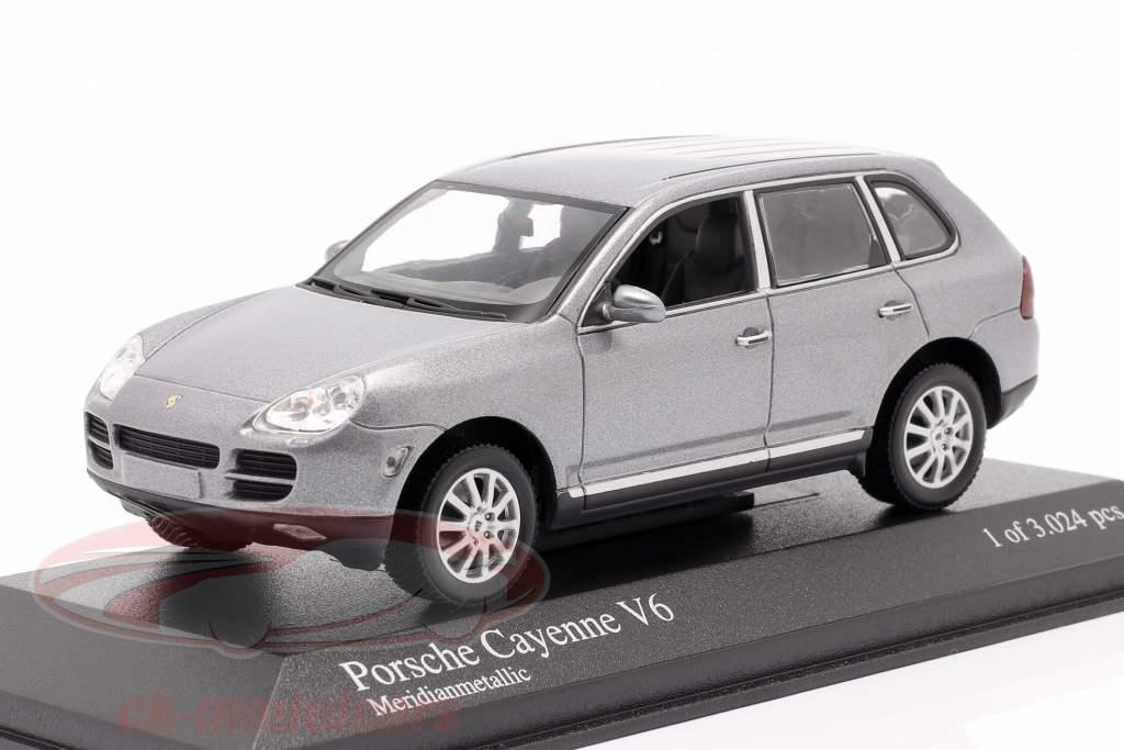 Porsche Cayenne V6 Ano 2003 cinza 1:43 Minichamps