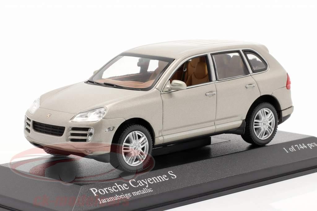 Porsche Cayenne S Année 2007 beige 1:43 Minichamps