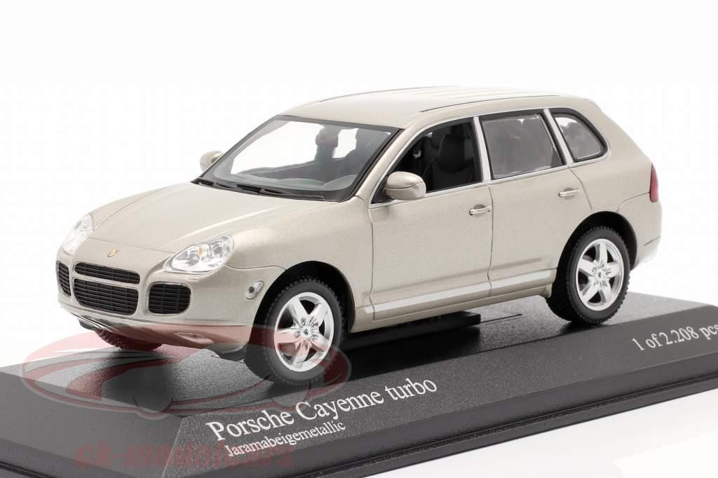 Porsche Cayenne Turbo Año 2002 beige 1:43 Minichamps