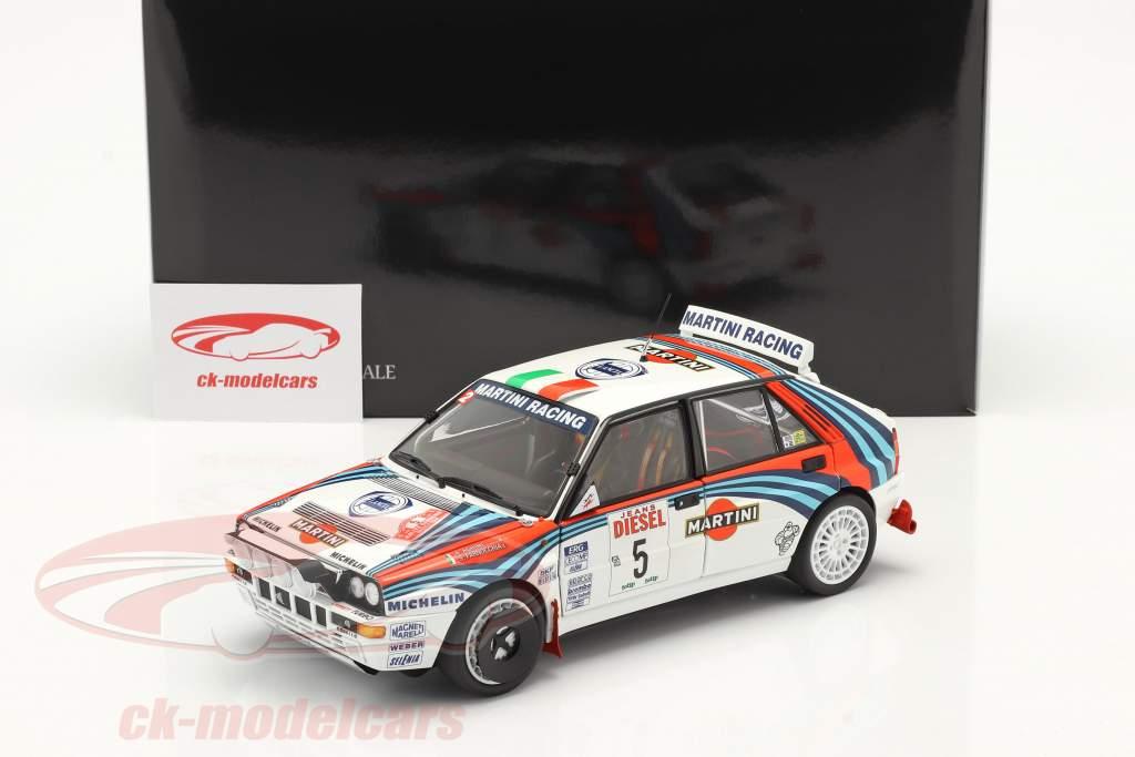 Lancia Delta HF Integrale #5 vincitore Rallye SanRemo 1992 1:18 Kyosho