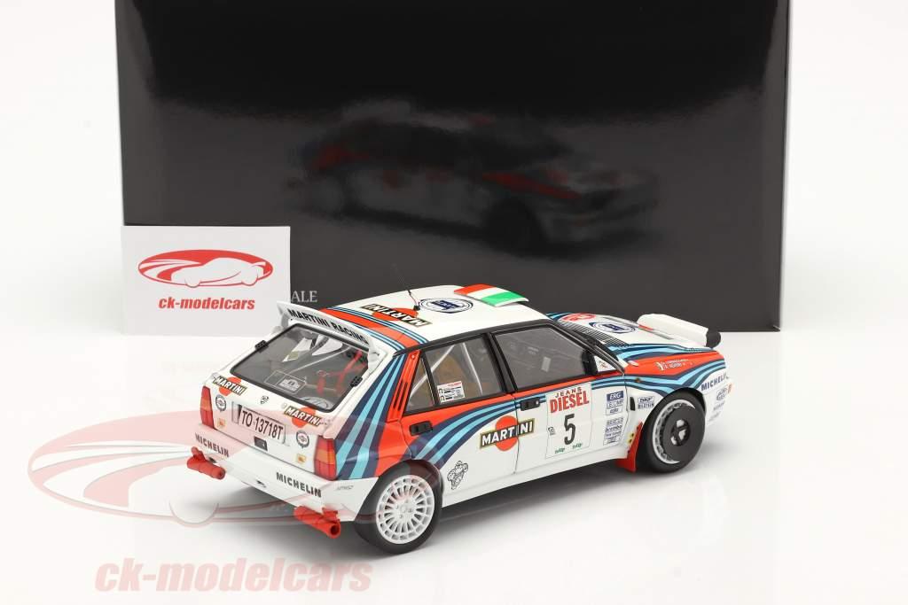 Lancia Delta HF Integrale #5 ganador Rallye SanRemo 1992 1:18 Kyosho