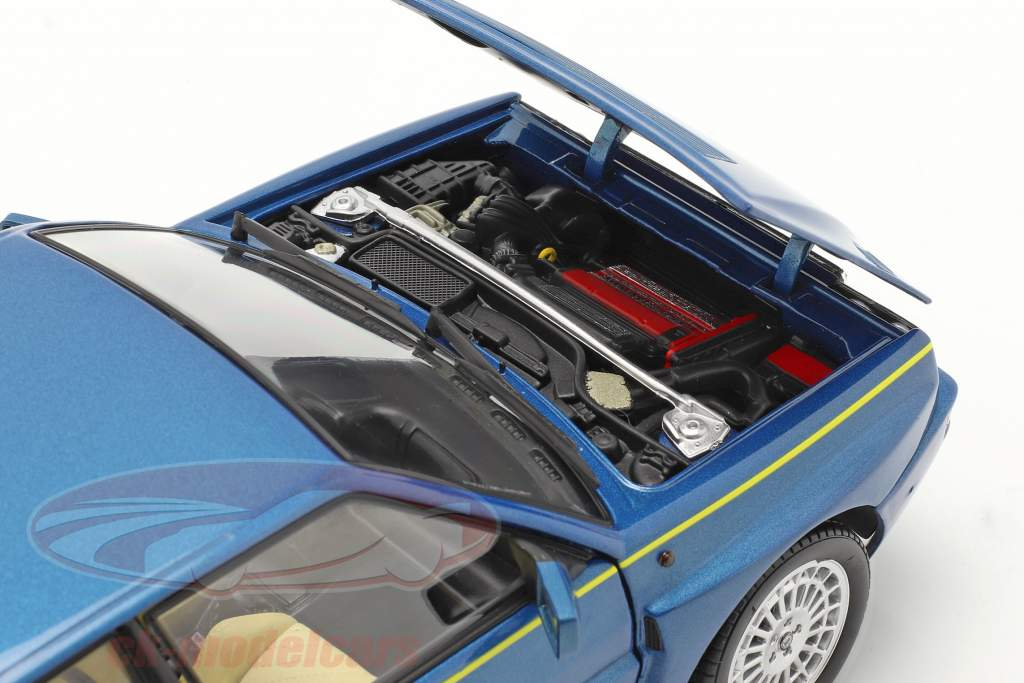 Lancia Delta HF Integrale Evo II Club HF 1994 Lagos blauw metalen 1:18 Kyosho