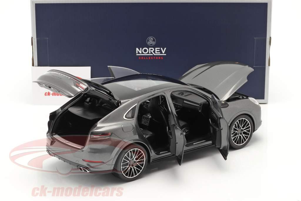 Porsche Cayenne Turbo Coupe Año de construcción 2019 gris ágata metálico 1:18 Norev