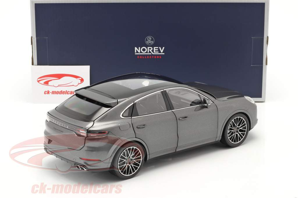 Porsche Cayenne Turbo Coupe Anno di costruzione 2019 grigio agata metallico 1:18 Norev
