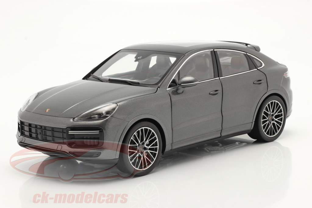Porsche Cayenne Turbo Coupe year 2019 agate gray metallic 1:18 Norev