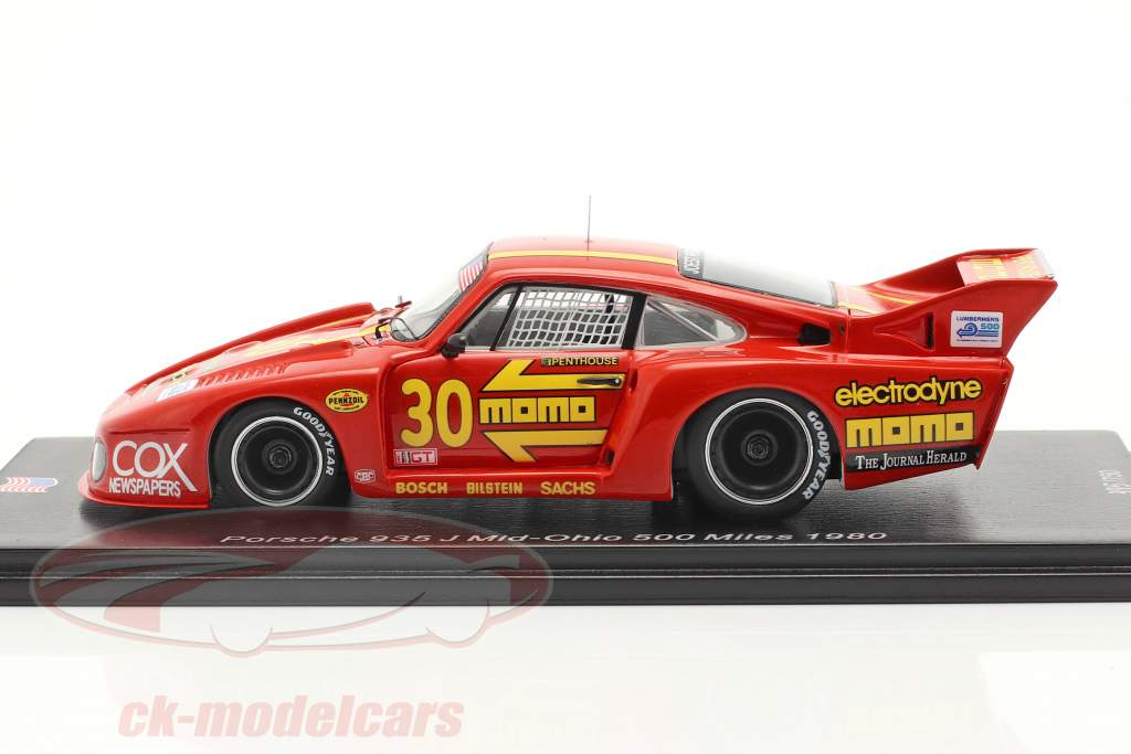 Porsche 935 J #30 3e Mid-Ohio 500 Miles 1980 Moretti, Busby 1:43 Spark