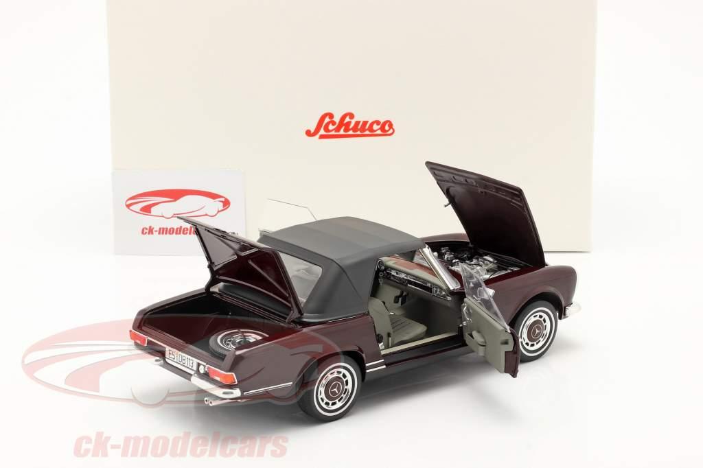 Mercedes-Benz 280 SL Pagode (W113) Bouwjaar 1963-71 bordeaux rood 1:18 Schuco