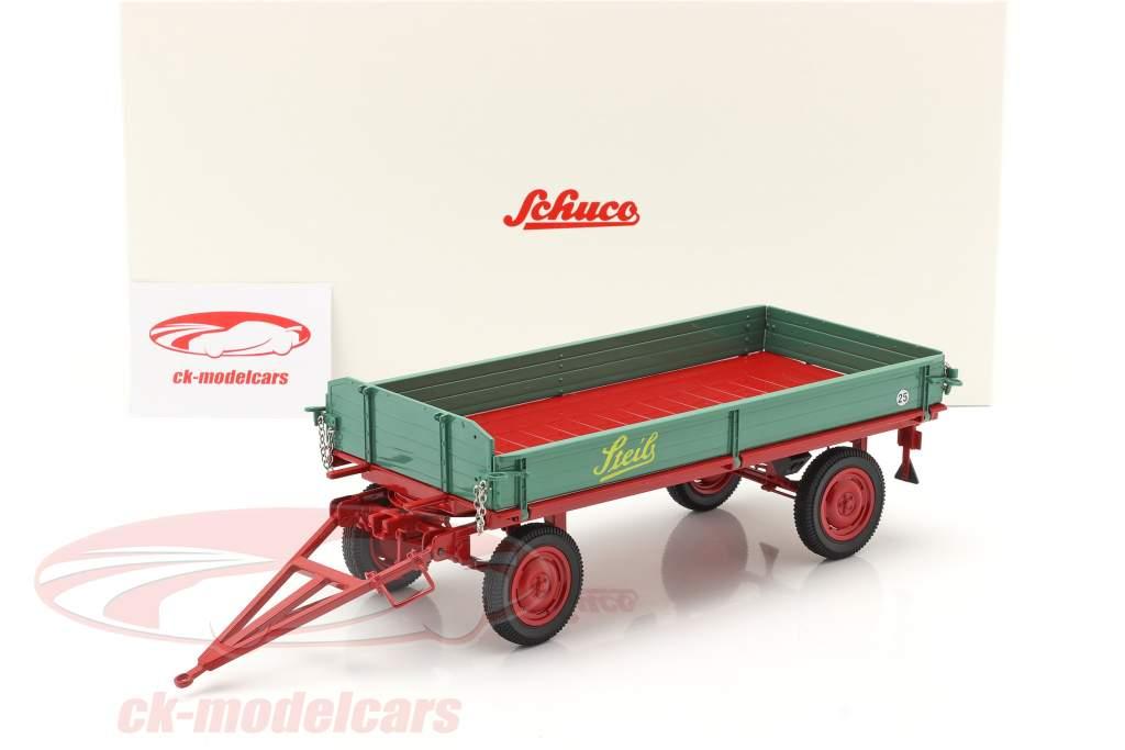 Steib Landwirtschaftlicher Anhänger grün / rot 1:18 Schuco