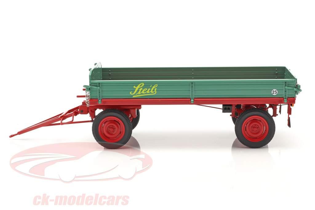 Steib farm Trailer green / red 1:18 Schuco