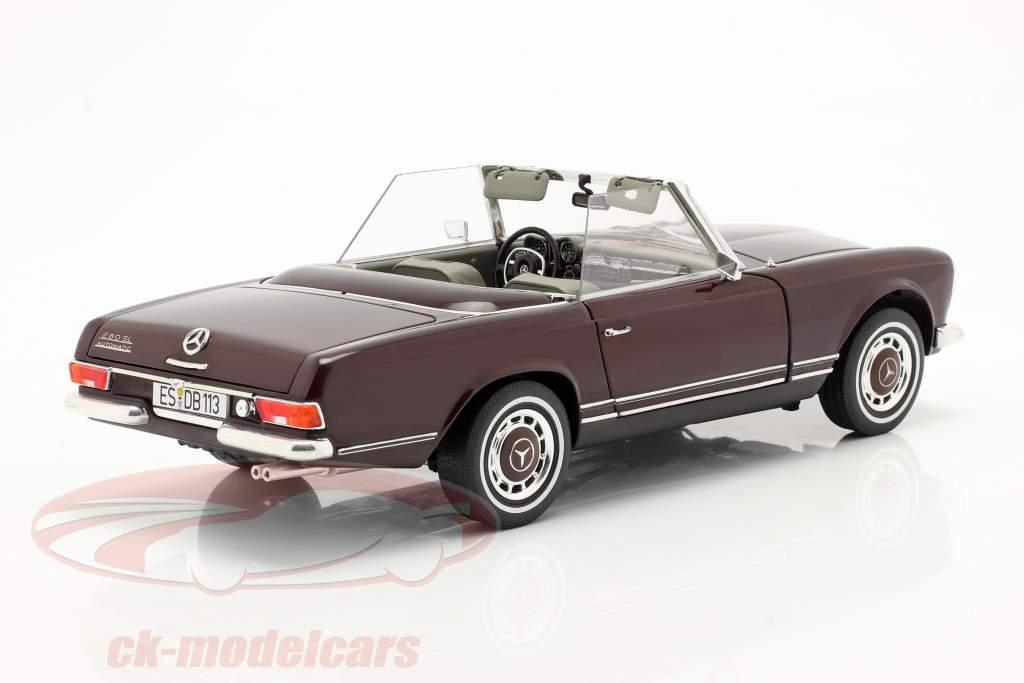 Mercedes-Benz 280 SL Pagode (W113) 建設年 1963-71 bordeaux 赤 1:18 Schuco