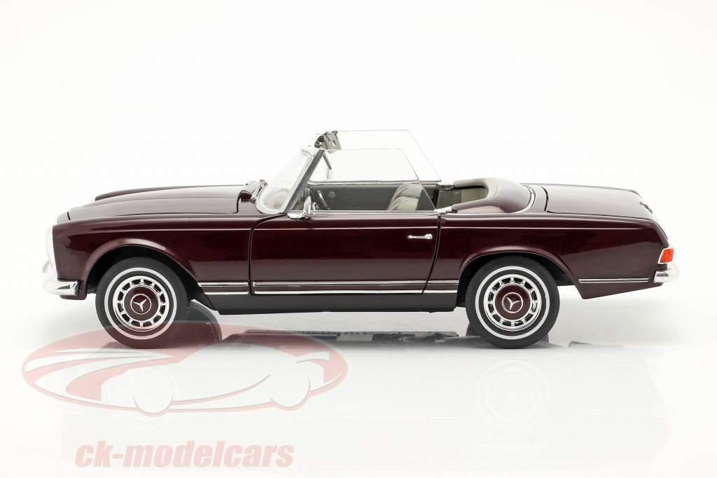 Mercedes-Benz 280 SL Pagode (W113) Anno di costruzione 1963-71 bordeaux rosso 1:18 Schuco