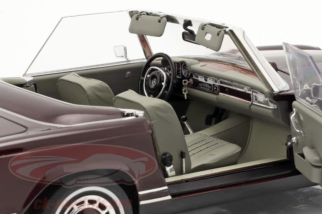 Mercedes-Benz 280 SL Pagode (W113) Baujahr 1963-71 bordeaux rot 1:18 Schuco