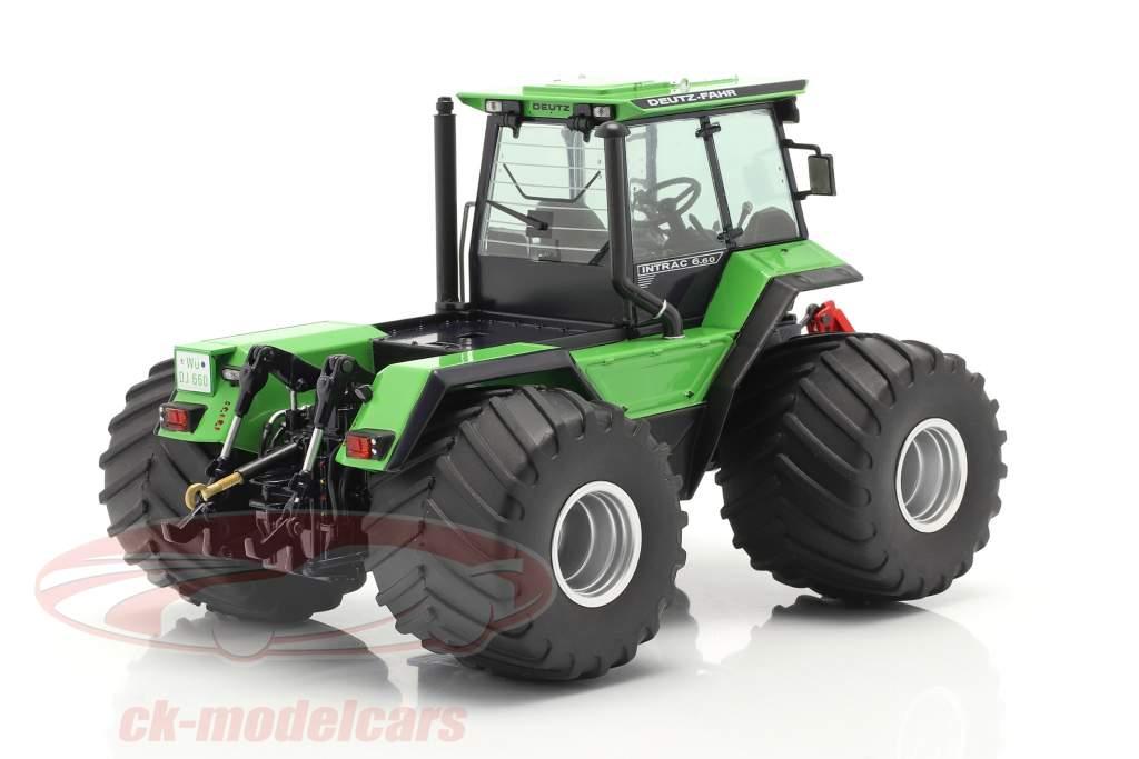 Deutz-Fahr Intrac 6.60 traktor Byggeår 1986-91 grøn / sort 1:32 Schuco