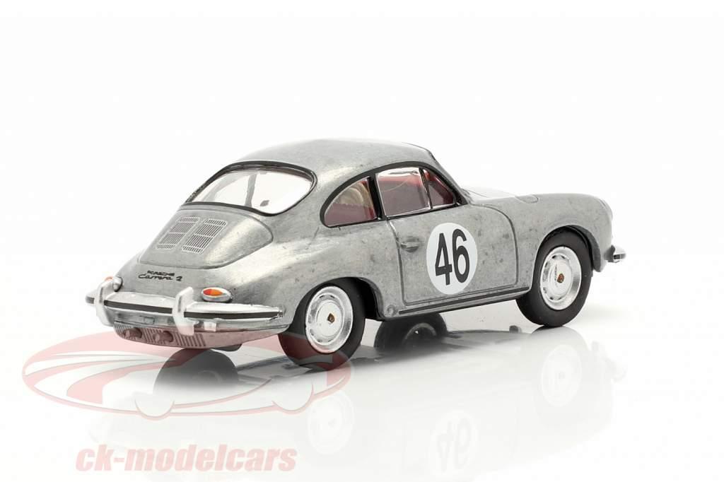 Porsche 356 Carrera 2 C #46 argent métallique 1:64 Schuco