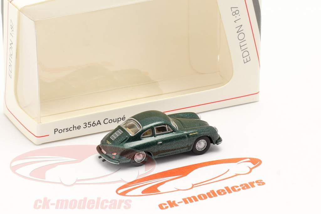 Porsche 356A Coupe donkergroen metalen 1:87 Schuco