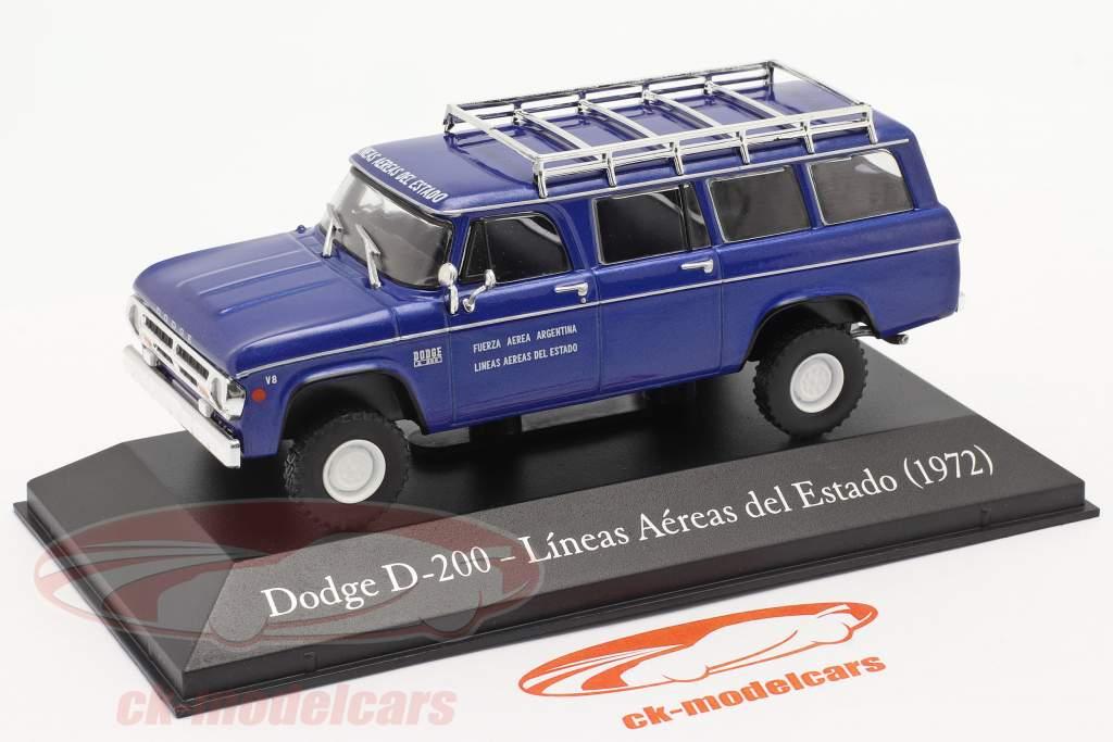 Dodge D-200 Stato compagnia aerea Argentina 1972 blu 1:43 Altaya