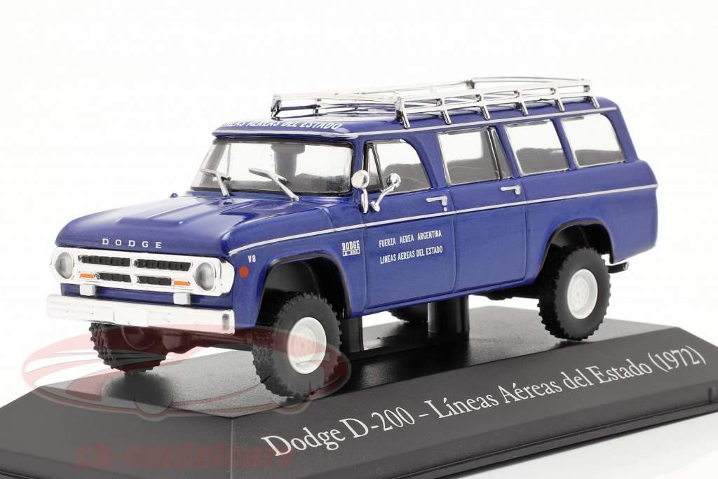 Dodge D-200 Stat flyselskab Argentina 1972 blå 1:43 Altaya