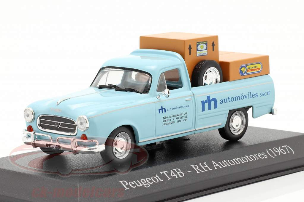 Peugeot T4B Pick-Up RH Automotores 1967 light blue 1:43 Altaya