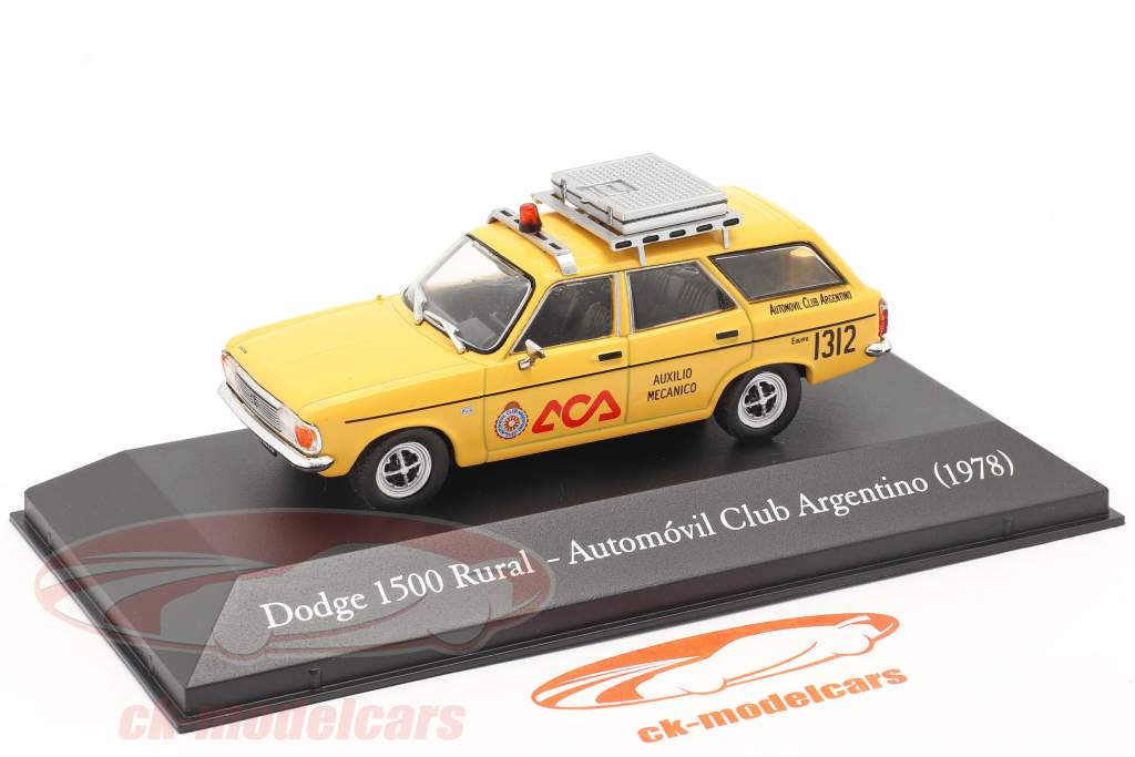 Dodge 1500 Rural Automobielclub Argentinië 1978 geel 1:43 Altaya